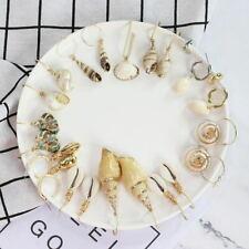 Women Earrings Aolly Pearl Shell Eardrop Dangle Earring Geometric Hoop Jewelry