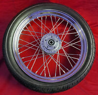 "40 SPOKE 19"" FRONT WHEEL & CONTINENTAL TIRE HARLEY SPORTSTER 883 1200 2000-2007"