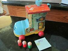 Fisher Price Little People Play Family Pull A Long Lacing Shoe 991 Wood Grandma