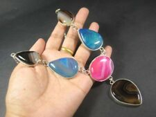 N4839 Multi color ONYX Stones HANDMADE ETHNIC TIBETAN FASHION Chain NECKLACE