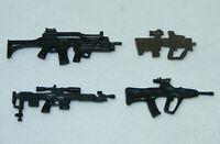 Lot de 4 Fusils d'assaut armes GI JOE accessoires G.I. FN F2000 AUG-A3 mitraille
