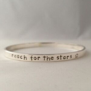 Stunning Handmade Name Date Message Solid Sterling Silver Personalised Bangle