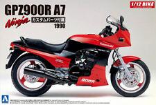 1990 Kawasaki GPZ900R A7 Ninja + Custom Parts Bike 1:12 Model Kit Aoshima 054543