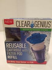CLEAR GENIUS Filter Cartridge Pod Refill Water Filtration Carbon 867485000105