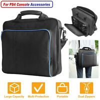 Travel Storage Bag For PS4/PS4 Slim/PS3 Multi-functional Should Carry Case Black