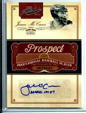 "2012 Panini Play-Off Prime-Cuts Autographed James McCann ""Rookie* D # 157 / 199"
