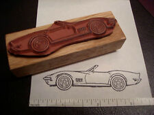 1969 Chevy Chevrolet Corvette Car Rubber Stamp SIDE View Convetible 1970 1971