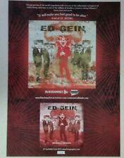 "ED GEIN ""Judas Goats & Dieseleaters"" Full Page AD magazine clipping"
