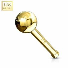 14K Stud Ball Piercing Nose Yellow gold