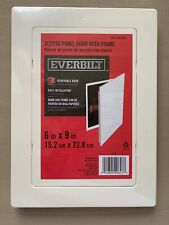 """Everbilt APD69 Access Panel Door with Frame 6"""" x 9"""" White 154978 Paintable New"""