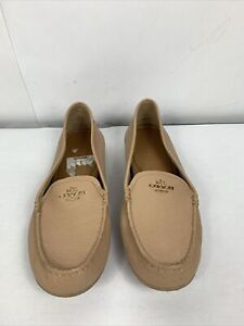 COACH Mary Lock Up Nude Loafers Womens Size 8.5 B Slip On ECU