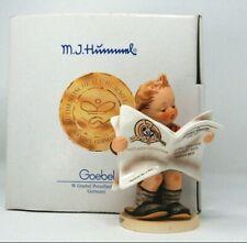 Hummel Goebel Le # Figurine Boy Newspaper Latest News Looney Tunes +8 Film Cells