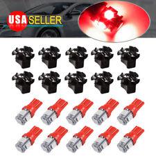 10x T10 194 192 168 2825 Led Twist Lock Gauge Speedometer Dash Light Bulb Red
