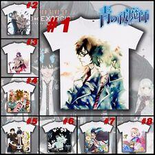 Anime Blue Exorcist Ao no Ekusoshisuto Unisex T-shirt Short Sleeve White Tee Top