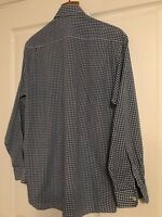Excellent Marks And Spencers Blue and White Check Shirt. 44 inch chest