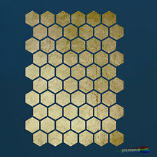 Honeycomb Stencil :   For Walls, Furniture and Art:  ST25