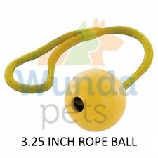 HAPPYPET 3.25 INCH TOUGH RUBBER ROPE BALL DOG PUPPY CATCH CHASE TOY TT0208