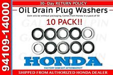Genuine OEM Honda Oil Drain Plug washer (94109-14000 x10)