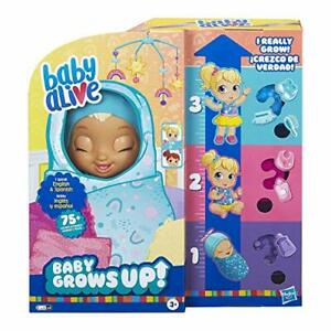 Baby Alive Grows Up (Happy) Speaking English & Spanish 75+ Sounds 8 Accessories