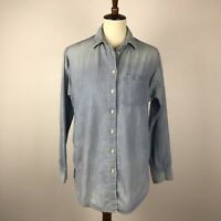Madewell Blue Chambray Cotton Button Down Shirt Blouse Top Sz S