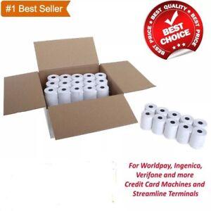 100 Rolls 57x40 Thermal Paper Credit Card Machine Till Roll | FAST N FREE