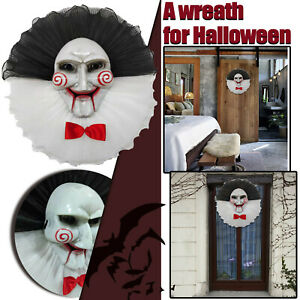 Halloween Wreath Door Hanging Wreath Skull Haunted Scary House Halloween  Decor