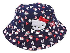 Baby Girls Hello Kitty Sun Hat / Cap Navy & White 12-24 Months 1-2 years Cotton