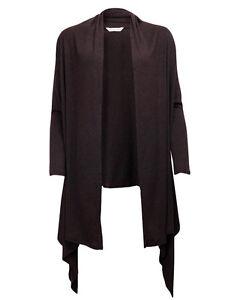 Cyberjammies Ladies Warm Thermal Knit Waterfall Cardigan Brown ~ BNWT ~ Size 22