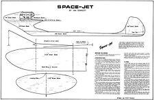 SPACE JET JETEX FREE FLIGHT PLAN