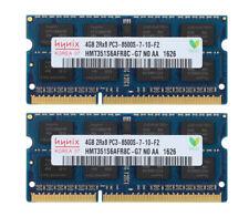 Für Hynix 8GB (2X 4GB) DDR3 1066MHz 2RX8 PC3-8500S Laptop Arbeitsspeicher RAM MT