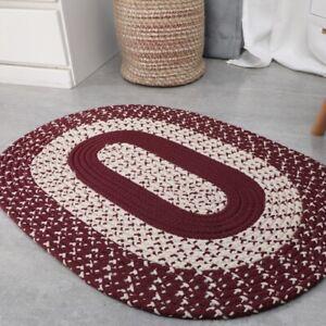 Oval Carpet Polypropylene Hand-Woven Non-slip Decoration Rug for Living Room