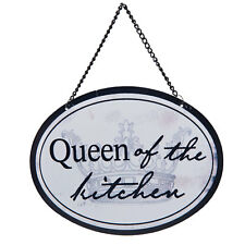 Clayre & Eef Blechschild Metall Wandschild Queen of the Kitchen Küche Shabby