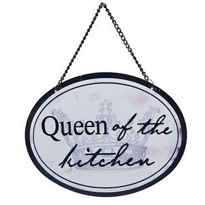 Clayre & Eef Blechschild Metall Wandschild Queen of the Kitchen Küche Shabby