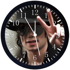 Michael Jackson Black Frame Wall Clock Nice For Decor or Gifts X55