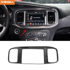 Console Navigation GPS Panel Cover Trim for Dodge Charger 2015-2019 Carbon Fiber