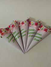 10 coni per confetti party festa compleanno sweet table comunione rosa fiori