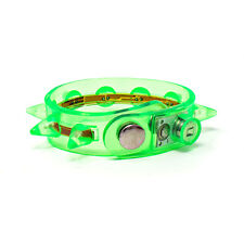 1 GREEN FLASHING SPIKE BRACELET PCS LED GLOW LIGHT UP PARTY GOTHIC PUNK CLUB