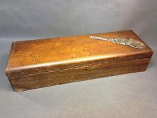 Ancienne boite bois vintage coffret à bijoux rangement de bureau french antique
