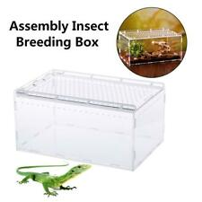 Acrylic Reptile Breeding Box Transparent Insect Feeding Box For Pet Snake Spider