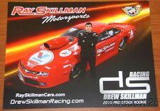 2015 Drew Skillman Valvoline Max Life Chevy Camaro Pro Stock NHRA postcard