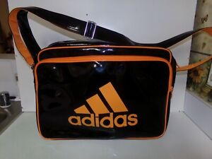 ADIDAS Vintage Airliner Shopper Luxe Bag Black Polyester from 1990s