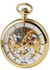 Woodford Gold Plated Mechanical Skeleton hand Wind Pocket Watch. ref 1044