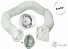 "4"" 5"" 6"" Inline Extractor Fan Timer Std Full Kit Ventilation Bathroom Shower"