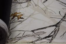 """3 Yards 500D Coated Cordura Camo 60""""W Fabric Conceal Snow True Timber DWR"""