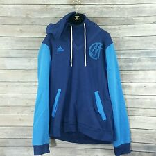 Adidas Real Madrid Soccer Hoodie Sweater Mens Medium Blue Old Logo Design