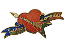 TOM PETTY & the HEARTBREAKERS vintage enamel pin button badge tour official RIP