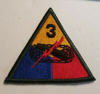 Vintage WW2 US Army 3rd Armored Patch Jacket Hat Uniform Patch Spearhead Style