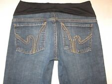 Citizens of Humanity Maternity Bootcut Jeans Sz 30 Dark Distressed Ric Rac