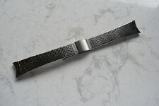"Vintage Bulova Stainless Steel Adjustable Watch Bracelet Curved End Links 3/4"""