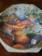 Advice from a Caterpillar Collector Plate by Scott Gustafson Alice In Wonderland